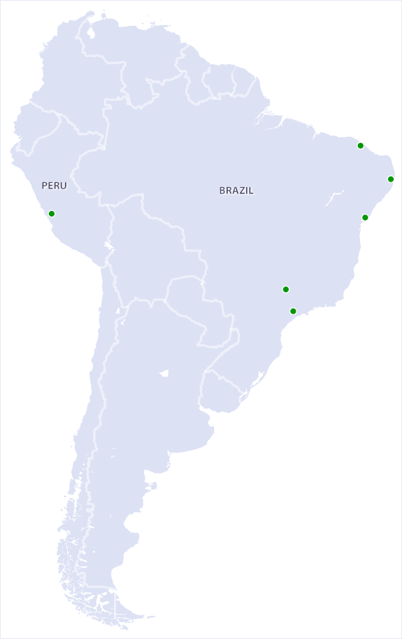 South America Distributors Map